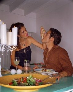 Couple having a romantic meal