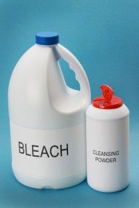 cleansing powder and bleach