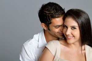 Young ethnic couple in love