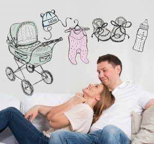 Adult couple planning baby