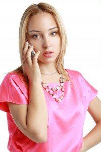 worried blonde woman