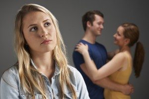 Woman Jealous Of Loving Couple