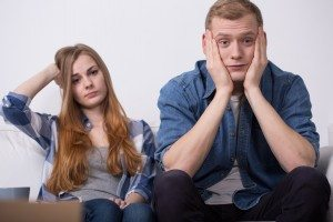 Troubled young couple