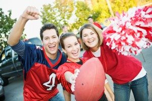 Tailgating: Three Friends Cheer For Favorite Team