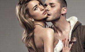 Portrait of kissing couple